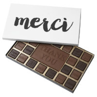 Graphic Merci Chocolate Box - Black & White