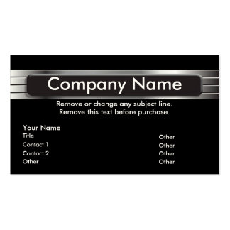Graphic Metal Business Card template