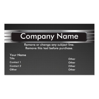 Graphic Metal Business Card template - NIK