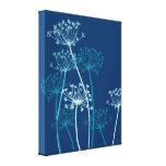 Graphic modern flower chervil canvas print