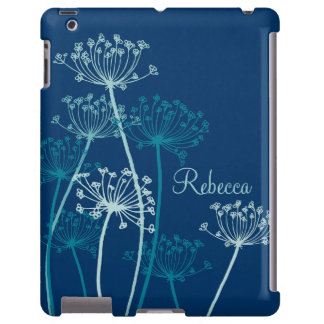 Graphic modern flower chervil name ipad case