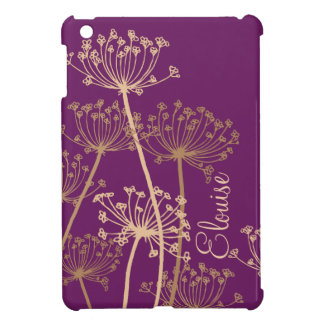 Graphic modern flower chervil name ipad mini case