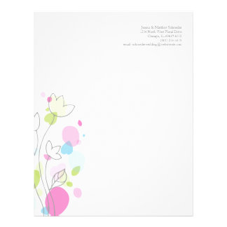 Graphic modern flower petals letterhead