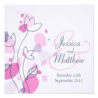 Modern Graphic pastel colors Flower themed wedding collection