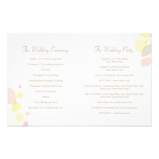 Graphic modern flower petals Wedding Programme Flyer