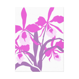 Graphic modern flower purple orchid canvas print