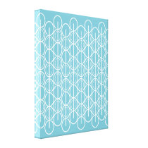 Graphic modern oval line patterned canvas print