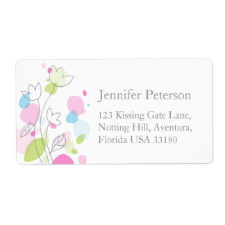 Graphic modern wedding return reply large address label