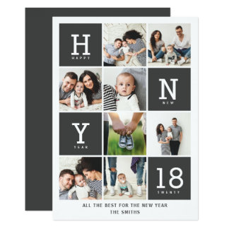 GRAPHIC NEW YEAR CARD