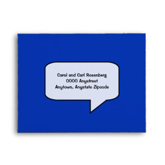 Graphic Novel Bar Mitzvah RSVP Envelope