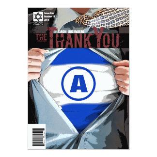 Graphic Novel Bar Mitzvah Thank You Card