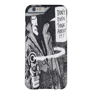 Graphic novel hero pointing a gun barely there iPhone 6 case