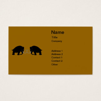 Graphic of 2 Mammoths Business Card
