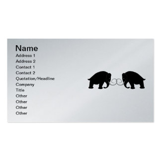 Graphic of 2 Mammoths Double-Sided Standard Business Cards (Pack Of 100)