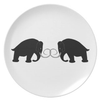 Graphic of 2 Mammoths Plate