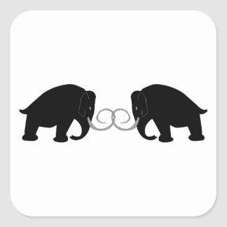 Graphic of 2 Mammoths Square Sticker