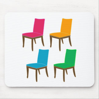 Graphic of a dining chair mouse pad