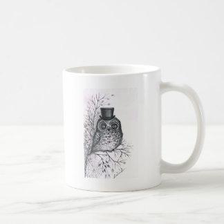 Graphic owl coffee mug