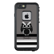 Graphic owl illustration on striped background LifeProof FRĒ iPhone 6/6s case