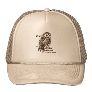 Graphic Owl Love Mesh Hats