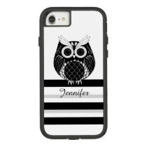 Graphic owl on striped background with name Case-Mate tough extreme iPhone 7 case