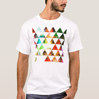 Graphic Painted Triangle Design T-Shirt