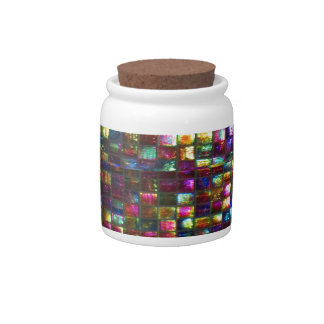Graphic Painting  Crystal Stone TileS Egyptian NY Candy Jars