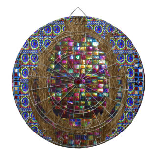 Graphic Painting  Crystal Stone TileS Egyptian NY Dart Board
