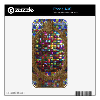 Graphic Painting  Crystal Stone TileS Egyptian NY Skin For The iPhone 4S