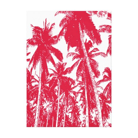Graphic Palm Trees Design Canvas Print