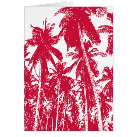 Graphic Palm Trees Design Card