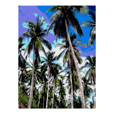 Graphic Palm Trees Design Poster
