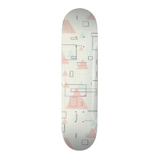 Graphic paper of rectangles and triangles Siradesi Skateboard