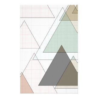Graphic paper of triangles graph PAPER