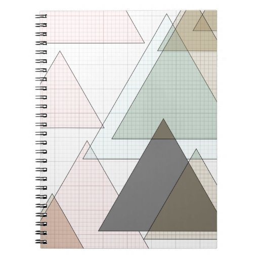 graphic paper of triangles graph paper spiral notebook