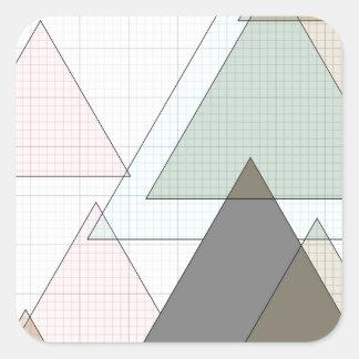 Graphic paper of triangles graph PAPER Square Sticker