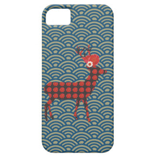 Graphic pattern and deer / iPhone Case
