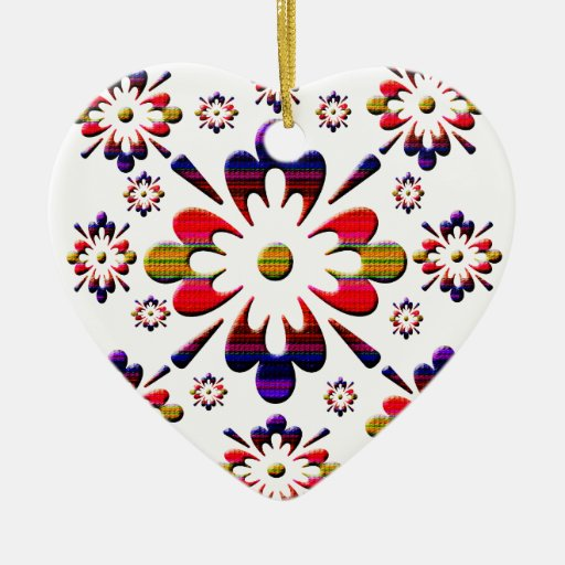 Graphic pattern christmas ornament