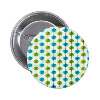 Graphic pattern made of leaves pinback button