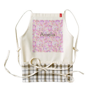Graphic pattern,pink pastels,girly,trendy,modern, zazzle HEART apron