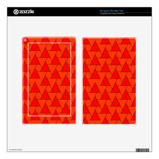 graphic pattern, red decals for kindle fire