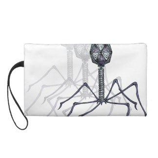 Graphic Phage Wristlet Clutch