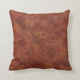 Graphic pinecones 2 throw pillow