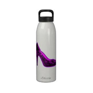 Graphic Pink High Heel Water Bottles