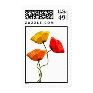 Graphic poppies stamps