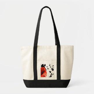 Graphic poppy canvas bag