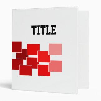 graphic red binder