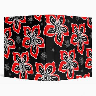 Graphic Red Flower Binder
