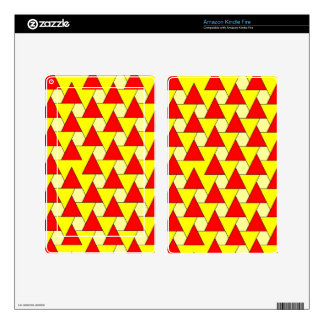 graphic red yellow pattern skin for kindle fire