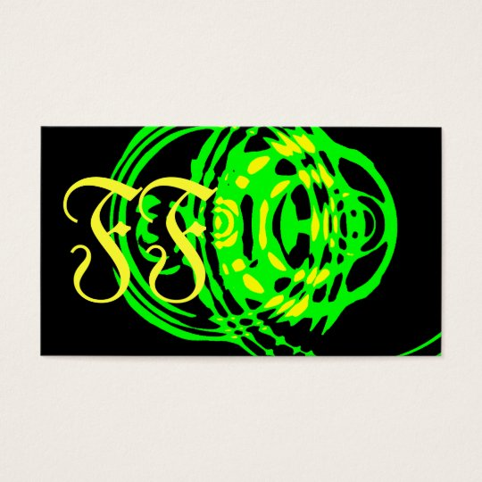 Graphic Ripple Green Business Card